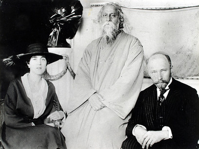 Rabindranath Tagore, Maria and Hermann Keyserling (in their home)