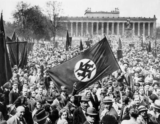 Protests in Berlin against Nazi Party